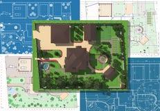 Plan av trädgårds- land Arkivfoton