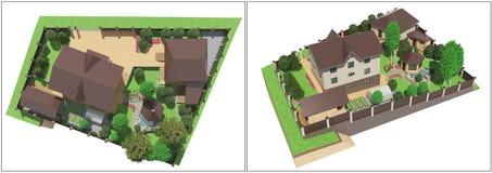 Plan av trädgårds- land Royaltyfri Fotografi
