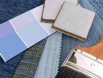 Plan azul medio de la decoración interior Foto de archivo