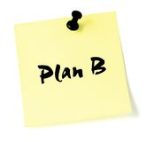 Plan B Imagenes de archivo