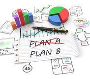 Plan b. Business plan strategy changing concept Stock Images