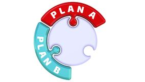 Plan A, plan B, plan C. The check mark in the form of a puzzle