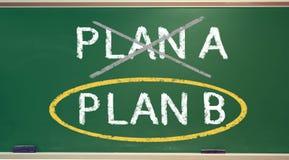 Plan B on a chalk board Stock Photo