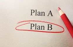 Plan B concept Royalty Free Stock Photo