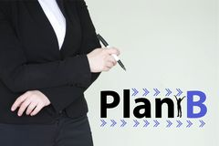 plan b concept. girl business woman stock photo