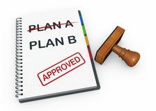 Plan b concept Royalty Free Stock Image