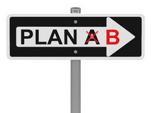 Plan b. 3d generated picture of a plan b sign vector illustration