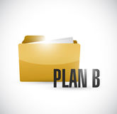 Plan b folder illustration design Stock Photo