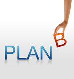 Plan B - Hand Royalty Free Stock Photo