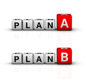 Plan A and B Stock Images
