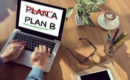 Plan B (le plan croisé A, soulignent le concept du plan B) Image libre de droits