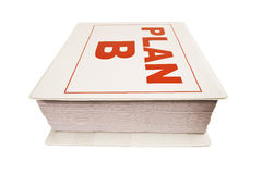 Plan B Notebook Stock Image
