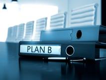 Plan B op Bureaubindmiddel Gestemd beeld 3d Stock Afbeeldingen