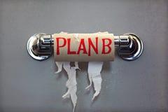 Plan B pour aucun papier hygiénique Photographie stock libre de droits