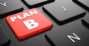 Plan B on Red Keyboard Button. Royalty Free Stock Images
