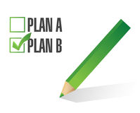 Plan b selected illustration design Royalty Free Stock Image
