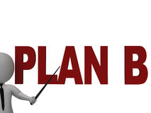 Plan B Showing Alternative Strategy Stock Images