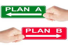 Plan A and B sign Stock Images