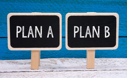 Plan A and B signs Stock Images