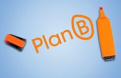 Plan B word Stock Image