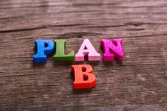 Plan B word made of wooden letters Stock Photography