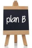 Plan B written on a chalkboard Stock Photo
