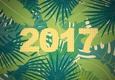 Plan bakgrund för abstrakt begrepp med färgrik palmbladgrönska och Royaltyfri Foto