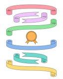 Plan banduppsättning med emblemet Stock Illustrationer
