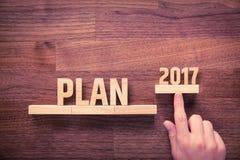 Plan biznesowy dla 2017 Obrazy Royalty Free