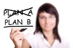 Plan biznesowy - kobieta rysunek Zdjęcia Royalty Free