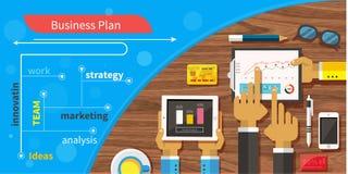 Plan biznesowy strategia z ekranem sensorowym Obraz Stock