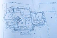 Plan in blauwe toon Royalty-vrije Stock Foto