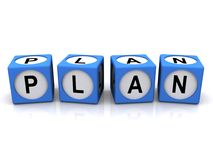 Plan in blocks Stock Image
