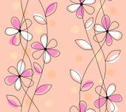 Plan blom- modell för tappning Royaltyfria Bilder