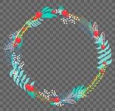 Plan botanisk krans för vektor Royaltyfri Fotografi