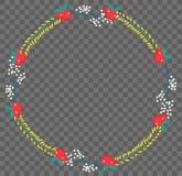 Plan botanisk krans för vektor Arkivfoton