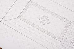 plan budowy Architektoniczny projekta tło ilustracji