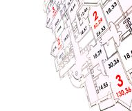 Plan of building Stock Photos