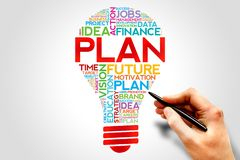 Plan bulb Royalty Free Stock Images