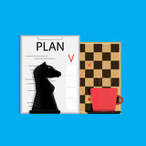 Plan business strategy. Organization business plan, vector illustration Stock Photo