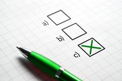 Plan C. Making decision and choice. Exam in school or answering to multiple choice question. Change of plan Royalty Free Stock Photo