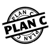 Plan C rubber stamp Royalty Free Stock Photo
