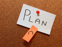 Plan C!. Sticky notes forming text - plan c Stock Photo