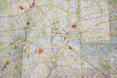 Plan of central London Royalty Free Stock Photo