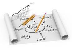 Plan chart Stock Photo