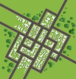 Plan city Royalty Free Stock Photography