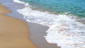 Plan clôturé de rivage où les petites vagues se cassent banque de vidéos