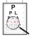 Plan claro en concepto de la prueba de la vista Fotos de archivo