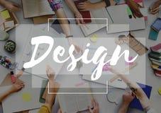 Plan Co de la inspiración de la imaginación de los pensamientos de la creatividad de las ideas del diseño imagen de archivo
