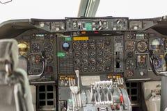 Plan cockpit Arkivfoto
